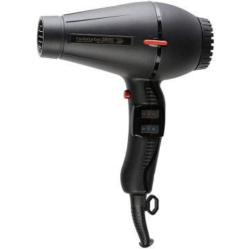 Turbo Power TwinTurbo 3800 Ionic & Ceramic Hair Dryer Black #330