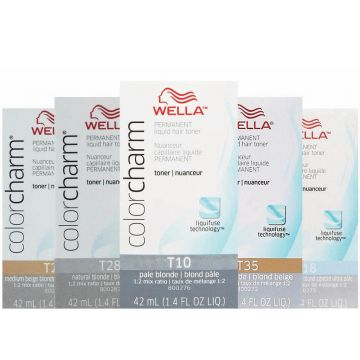 Wella Color Charm Permanent Liquid Hair Toners 2 oz
