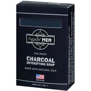 Agadir MEN Oud Wood Charcoal Detoxifying Soap 6 oz