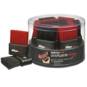 BaByliss Pro BARBERology Neck Duster - Assorted Colors #BBCKT4N - 12 Pack Bucket