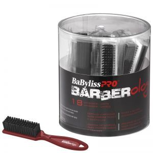 BaByliss Pro BARBERology Fades & Blades Cleaning Brush - Assorted Colors #BBCKT9 - 18 Pack Bucket