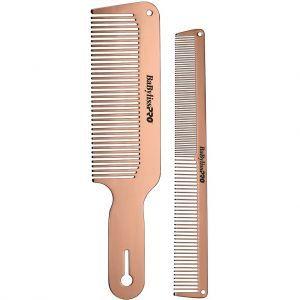 BaByliss Pro BARBERology ROSEFX Metal Comb Set #BCOMBSET2RG