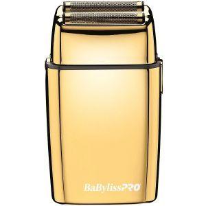 BaByliss Pro FOILFX02 Cordless Metal Double Foil Gold Shaver #FXFS2G (Dual Voltage)