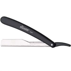 Diane Classic Straight Razor Included 2 Blades - Black #D204