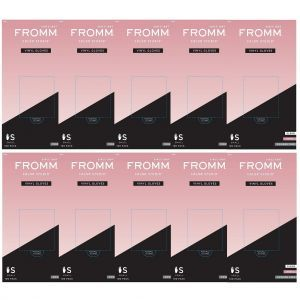 Fromm Color Studio Powder Free Vinyl Clear Gloves 100 Pcs - Small #D8020 - 10 Pack