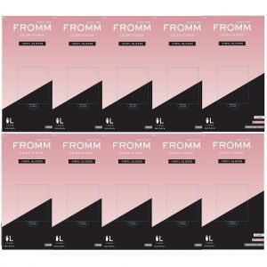 Fromm Color Studio Powder Free Vinyl Clear Gloves 100 Pcs - Large #D8022 - 10 Pack