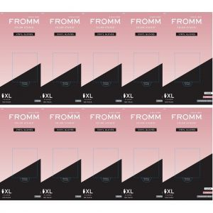 Fromm Color Studio Powder Free Vinyl Clear Gloves 100 Pcs - X-Large #D8023 - 10 Pack