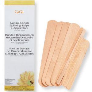 GiGi Natural Muslin Epilating Strips & Applicators #0680