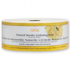 GiGi Natural Muslin Epilating Roll - 3.25 Inch X 100 Yards #0628