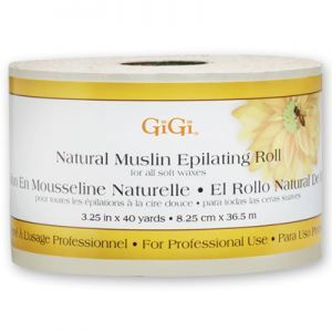 GiGi Natural Muslin Epilating Roll - 3.25 Inch x 40 Yards #0620