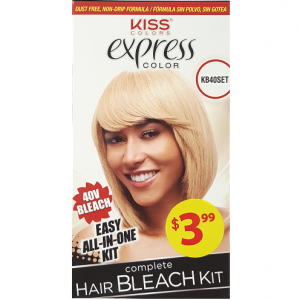 Kiss Express Color Complete Hair Bleach Kit - 40V Bleach #KB40SET