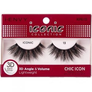 Kiss i-ENVY iconic Collection Natural Icon 3D Angle Eyelashes 1 Pair Pack - iconic 13 #KPEI13