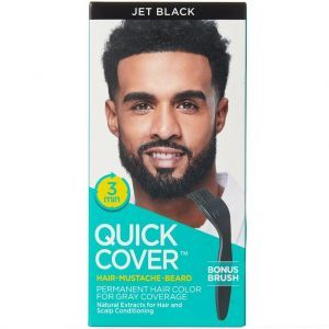 Kiss Quick Cover For Men Permanent Color Hair, Mustache, Beard