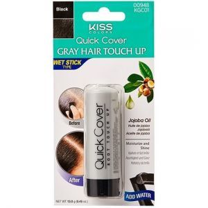 Kiss Colors Quick Cover Gray Hair Touch Up Wet Stick Type 0.45 oz