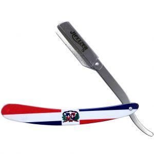 Nexxzen Professional Barber Swing Lock All Metal Razor - Dominican Flag #NZR040-DF