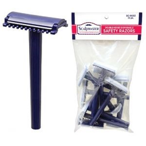 Scalp Master Double Edge Disposable Safety Razors - 12 Pack #SC-9053