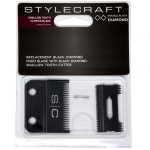 Stylecraft Replacement Black Diamond Fixed Blade with Black Diamond Cutter - Shallow Tooth Clipper Blade #SCCBDS