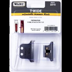 Wahl T-Wide Adjustable Trimmer Blade for 5 Star Detailer, Retro T-Cut #2215